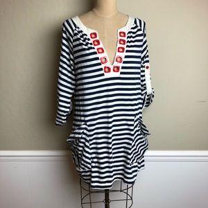 Nanette Lepore striped swim cover up